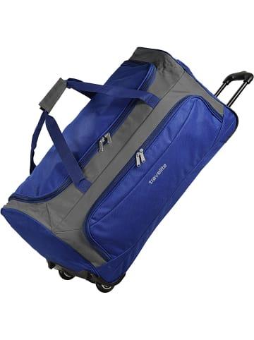 Travelite Garda XL Reisetasche groß mit Rollen mit Trolley-Funktion 72 cm in royal blau grau