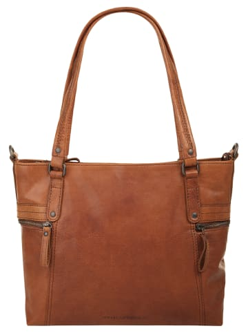 SPIKES & SPARROW Shopper in cognac