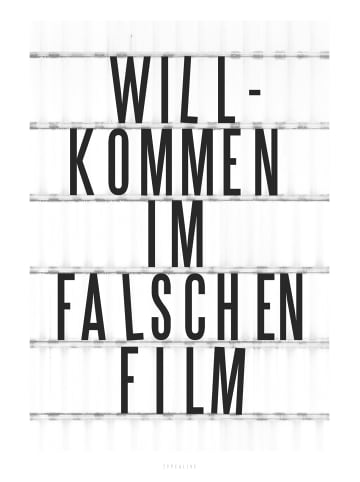 """Typealive Print """"Falscher Film"""" / A3 bis 60 x 90 cm"""