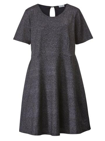 Angel of Style by HAPPYsize Jerseykleid in Silberfarben