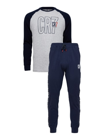 CR7 Pyjama Kids in Dunkelblau/Weiß