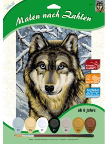 MAMMUT Spiel und Geschenk Malen nach Zahlen Wolf