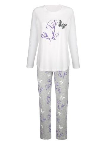 Blue Moon Schlafanzug in Ecru,Grau,Lila