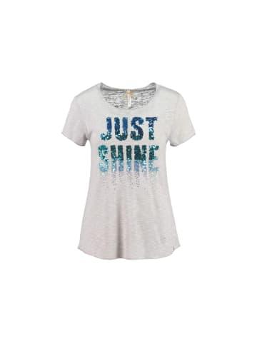 KEY LARGO Rundhals T-Shirt in silber