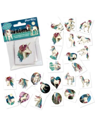 TapirElla Mini-Tattoos Einhorn Lunabelle, 24 Stück