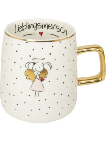 """Mea Living Henkelbecher mit Goldhenkel """"Lieblingsmensch"""", 480 ml"""