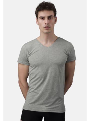 Burnell & Son T-Shirt - Unterhemd - V-Ausschnitt 4er Pack - Basic in Grau