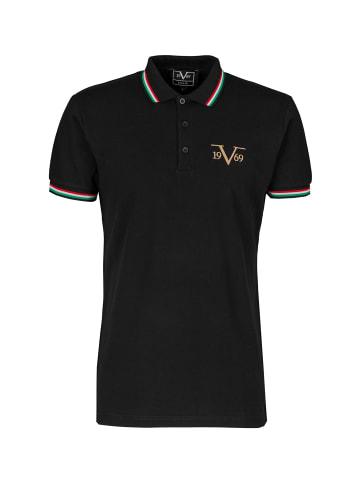 19V69 Italia by Versace Poloshirt Logo in schwarz