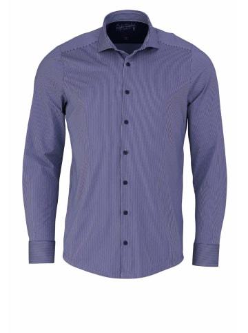 HATICO Langarm Business Hemd in blau
