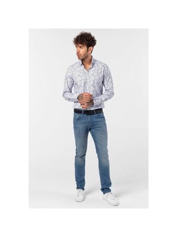 JIMMY SANDERS Straight-fit-Jeans Mircos in Blau