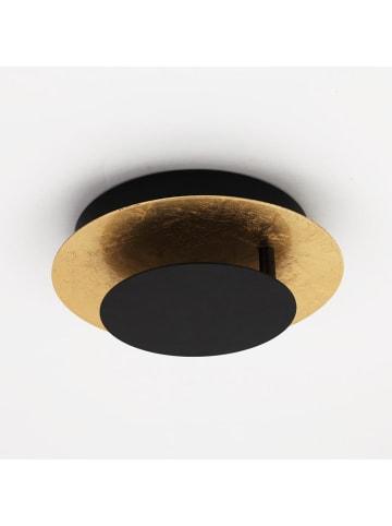 """S.LUCE Wand- und Deckenlampe """"Plate"""" in Blattgold, Ø 30cm"""