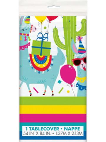 Partystrolche Kunststoff-Tischdecke 137 x 213 cm Crazy Lama