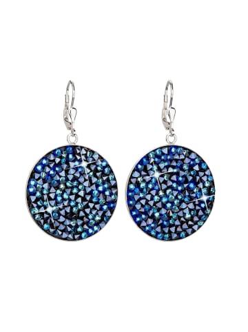 """Exclusive Edition  Ohrringe """"Rock"""" mit Swarovski Kristallen in Bermuda Blue"""