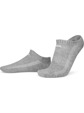 Circle Five 6 Paar Sneaker-Socken mit Silikongrip in Grau