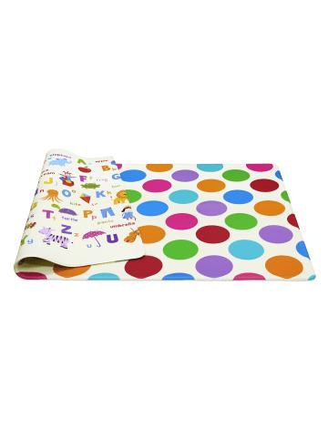 "Dwinguler Spielmatte ""Polka Dot"" in Bunt - (L) 140 x (B) 100 cm x (H) 15 mm"