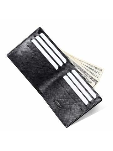 FEDER Leder Geldbörse RFID + Geschenkbox in Anthrazit