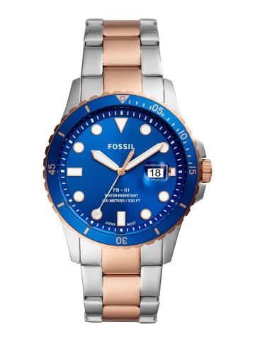 Fossil Analog Uhr 'FB-01' In Blau/Mehrfarbig