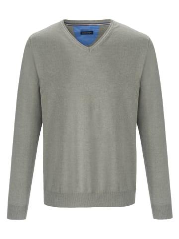 LOUIS SAYN V-Pullover aus 100% Baumwolle Pima Cotton in schilf-melange