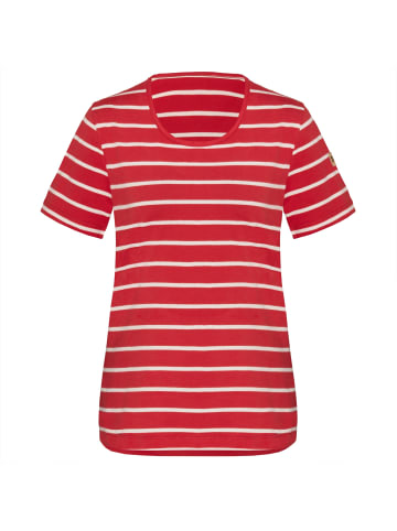 TAO Damen Freizeitshirt aus Bio-Baumwolle SELDA in rubin/white