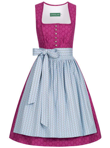 Country Line Midi Dirndl in Pink