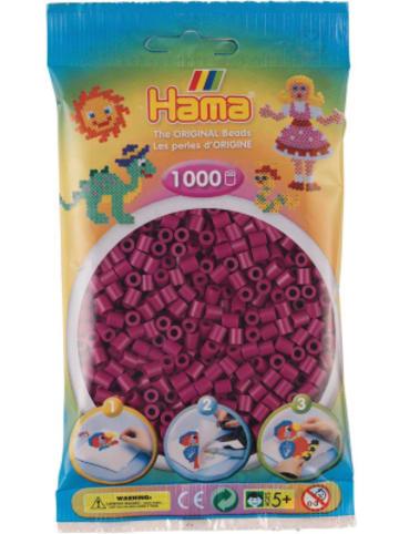 Hama Bügelperlen HAMA 207-82 Beutel midi-Perlen, 1.000 Stück, Pflaume