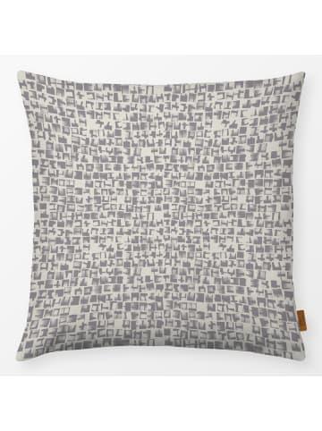 "Textilwerk.com Kissen ""mosaic gray"" in Grau / Weiss"