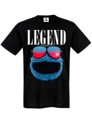 Sesamstraße T-Shirt Cookie Legend in schwarz
