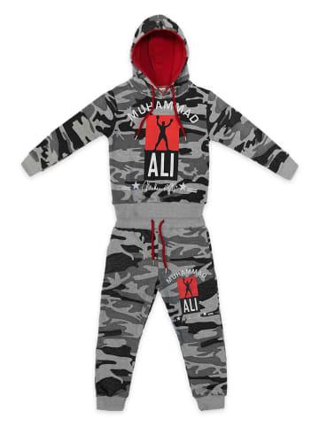 EGOMAXX Kinder Trainingsanzug Jungen Muhammad Ali Jogginganzug in Dunkelgrau