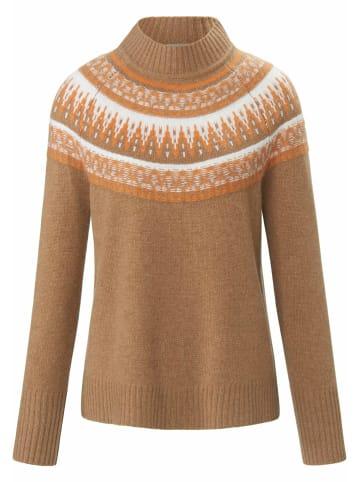 Include Pullover aus 100% Premium-Kaschmir in camel/kürbis