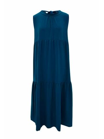 Wisell Sommerkleid Sommerkleid mit Schleife im Rücken in türkisblau