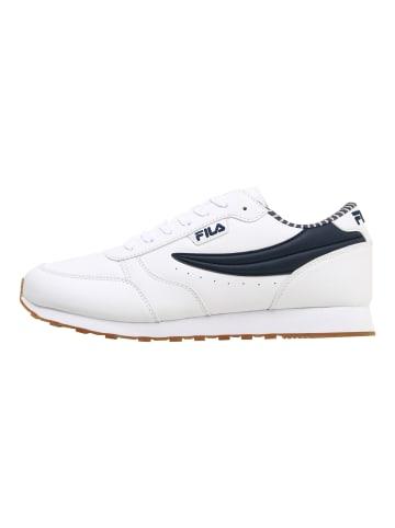 Fila Sneaker Orbit F low in white / fila navy