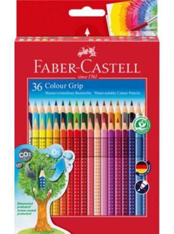 Faber-Castell Buntstifte COLOUR GRIP wasservermalbar, 36 Farben