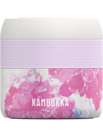 KAMBUKKA® Edelstahl-Speisegefäß Food Jar BORA Pink Blossom, 400 ml