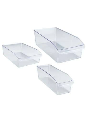 Wenko Kühlschrank-Organizer, 3er Set, Aufbewahrungsboxen für Kühl- und Vorratsschrank in Transparent