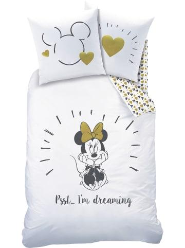 """Disney Minnie Mouse Mädchen Bettwäsche-Set """"Disney's Minnie Mouse"""" in Weiß"""