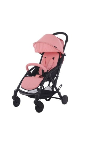 "Cabino Buggy ""Compact"" inkl. Regenüberzug & Einkasufstasche in Pink-Schwarz"