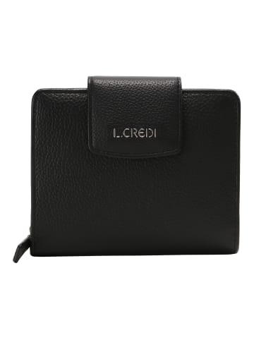 L.Credi Geldbörse Maranello Geldbörse in schwarz