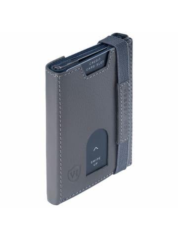VON HEESEN Slim Wallet in grau (genarbt)