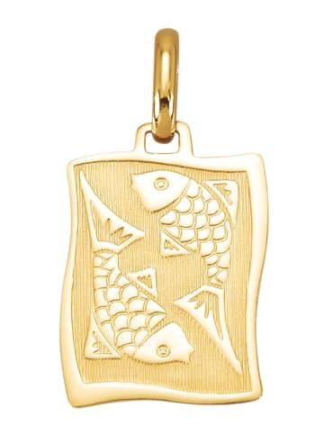 Diemer Gold Sternzeichen-Anhänger 'Fische' in Gelbgoldfarben
