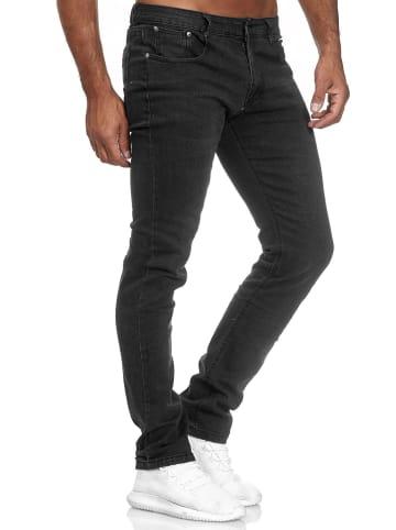 Giani5 Jeans Hose Denim Waschung Used in Schwarz