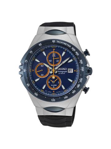 Seiko Chronograph Uhr 'Macchina Sportiva' in Blau/Schwarz