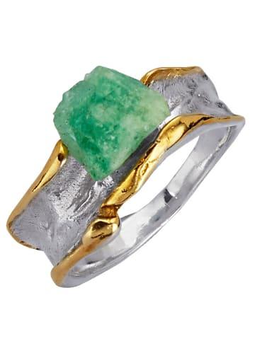 Diemer Atelier Damenring mit Roh-Smaragd in Grün