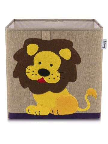 Lifeney Aufbewahrungsbox Löwe dunkel, 33 x 33 x 33 cm