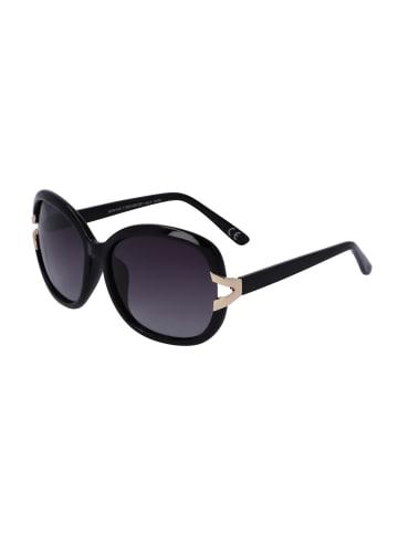 TOSH Große Sonnenbrille mit goldfarbenen Details in SMOKE