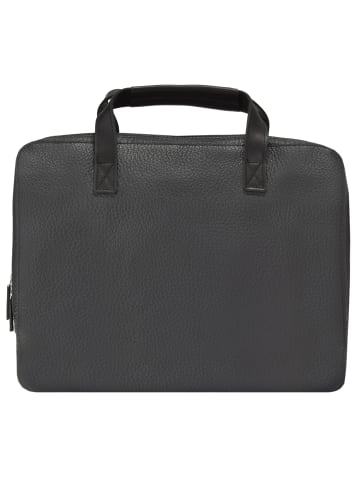 Jost Kopenhagen Aktentasche Leder 38 cm Laptopfach in schwarz