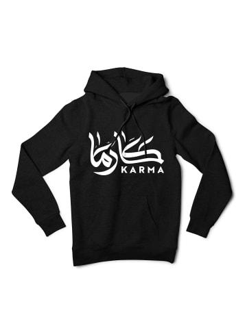 Mamino Damen Hoodie -Karma Calligraphy in Schwarz
