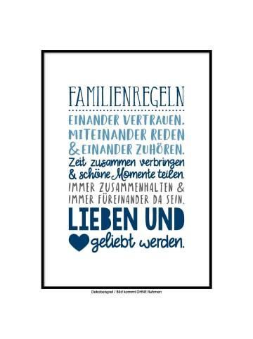 "SMART ART Kunstdrucke Kunstdruck / Poster ""Familienregeln col.2"" / A4 oder A3"