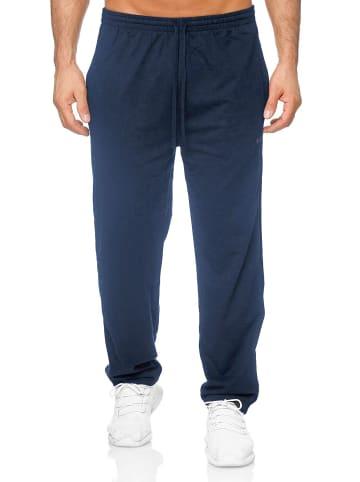 Humy Leichte Jogginghose Relax Sweatpants Baggy Hose in Blau-2