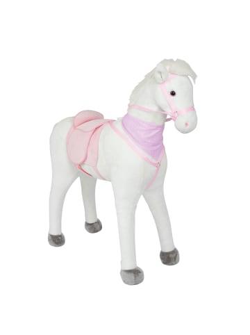 """Pink Papaya Stehpferd 105 cm """" Luna """" in weiß/weiß"""