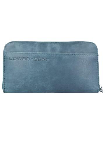 Cowboysbag The Purse Geldbörse Leder 19,5 cm in petrol